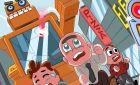 Игра Мальчик с Рогаткой vs Роботы для винкс сайта